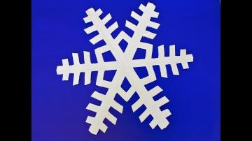 DIY Как сделать снежинку из бумаги своими руками.Paper snowflake tutorial.Copos de nieve de papel. -