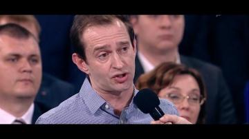Константин Хабенский задает вопрос Владимиру Путину. - видео смотреть онлайн