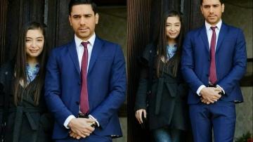 Неслихан Атагюль горда стоять рядом с красиво одетым Кадиром Догулу смотреть онлайн