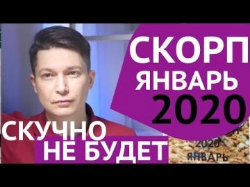Скорпион Январь 2020 Гороскоп - любимый дом и семья Затмение 10 января Гороскоп Скорпион Чудинов